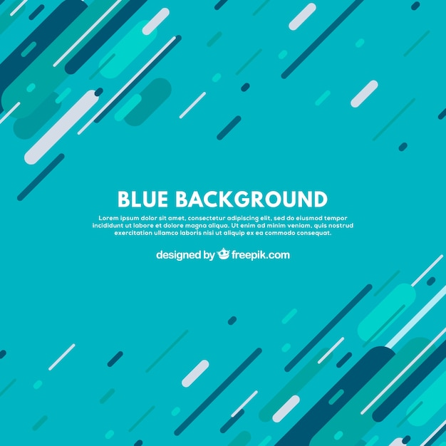 Blue background with fun lines Free Vector