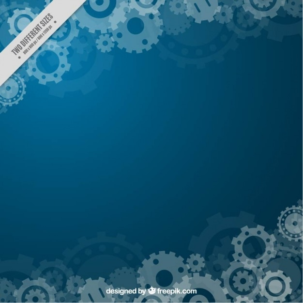 Blue background with gears Free Vector