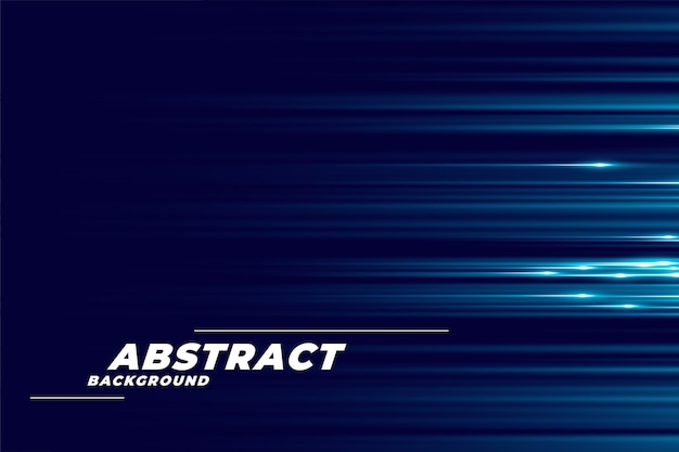 Blue background with glowing horizontal lines Free Vector