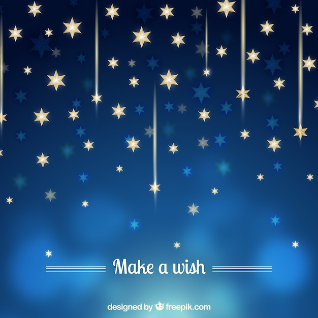 blue background with golden stars vector