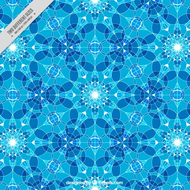 Blue background with little geometric crystals Free Vector