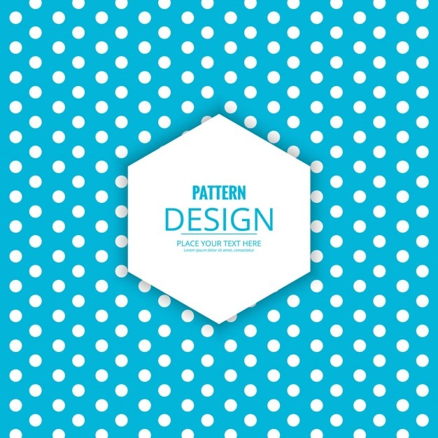 Blue background with white dots Free Vector
