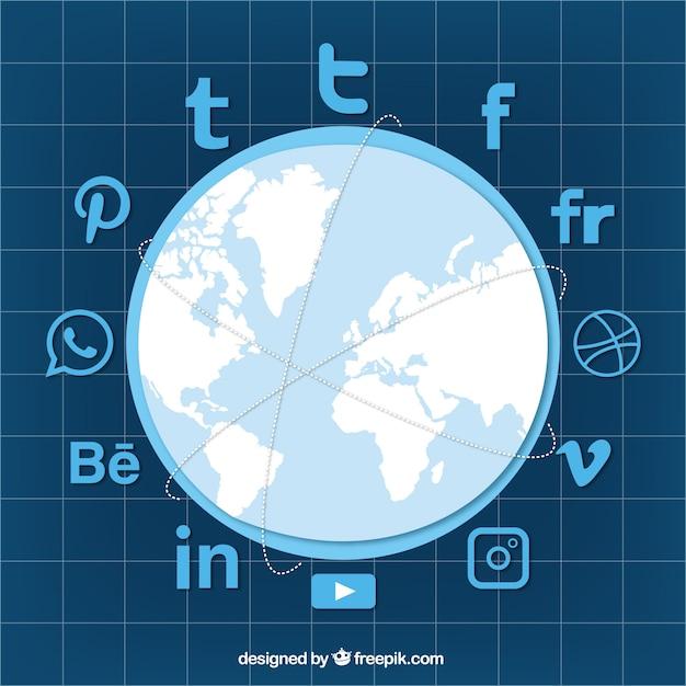 Download Vector - Social networks background - Vectorpicker