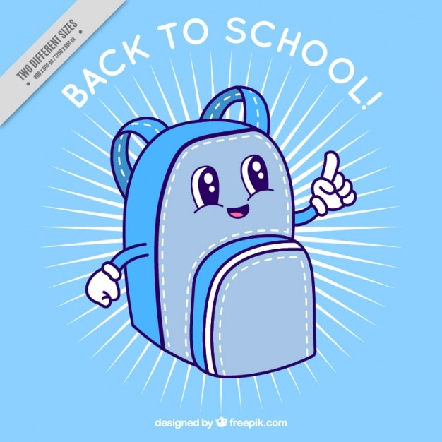 Blue backpack for back to school
