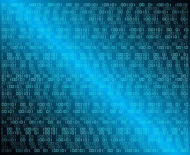 Blue binary cyber circuit future technology concept background Premium Vector