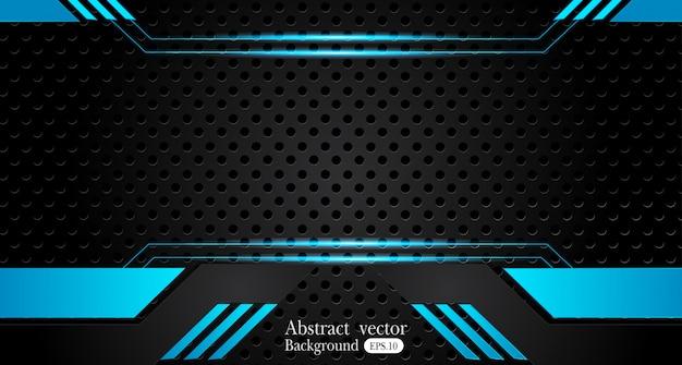 Blue black background Premium Vector