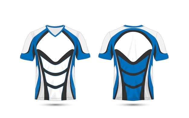 4f7952cdb Blue and black layout e-sport t-shirt design template Premium Vector