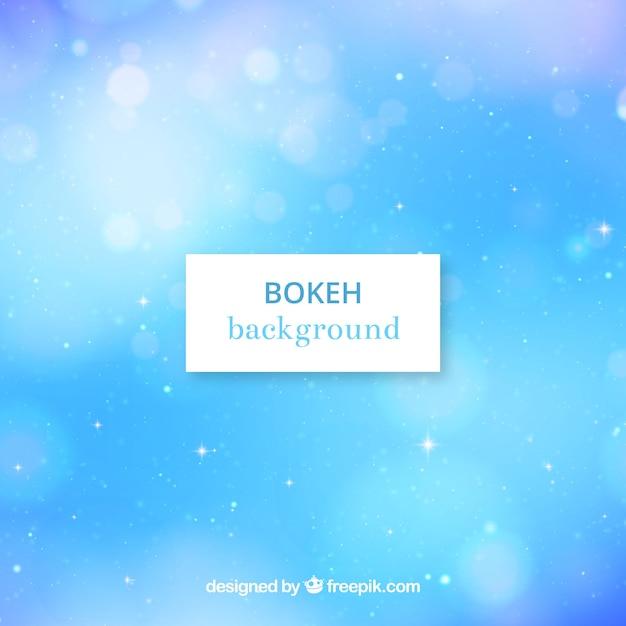 Blue bokeh background Free Vector
