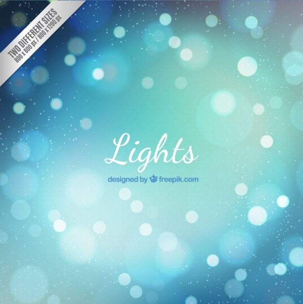 Blue bokeh lights background Free Vector