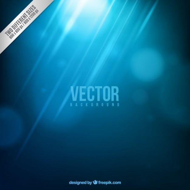 Blue bokeh Free Vector