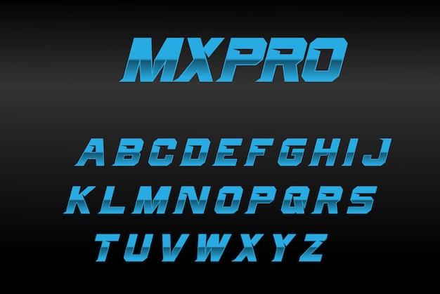 Blue boldフォントmxpro Premiumベクター