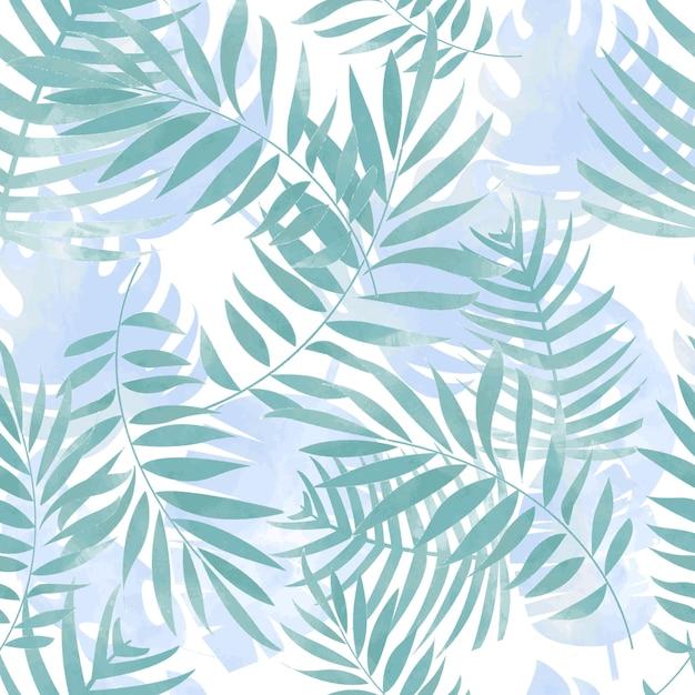 Blue branch seamless pattern Premium Vector