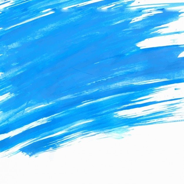 Blue brush strokes background Free Vector