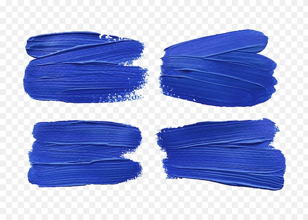 Blue brush strokes effect isolated Premium Vector