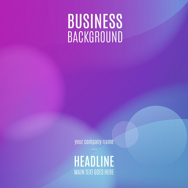 Blue Business Background Free Vector