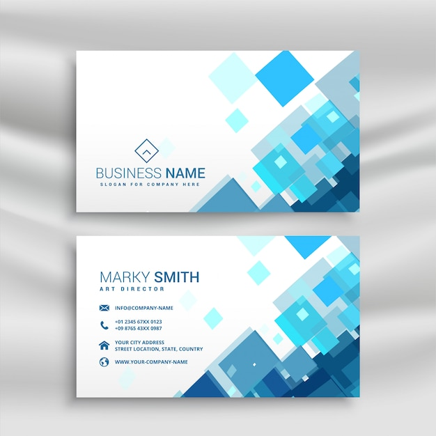 Blue business card design template vector free download blue business card design template free vector flashek Images