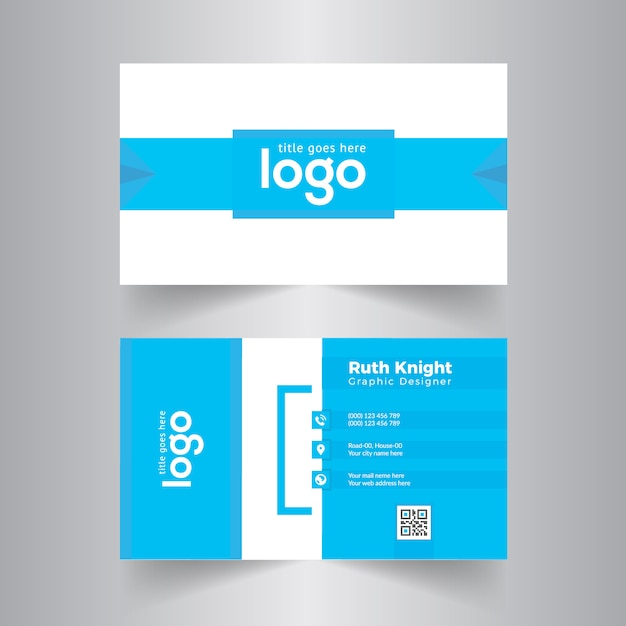 Blue business card design vector premium download blue business card design premium vector colourmoves