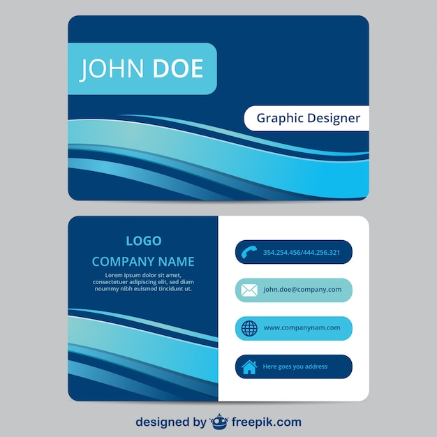 Blue business card template vector free download blue business card template free vector wajeb Choice Image