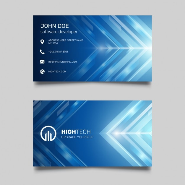 Blue business card with bright lines vector free download blue business card with bright lines free vector reheart Images