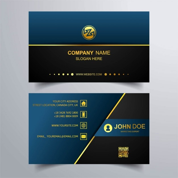 Business Card Template With Beauty Concept