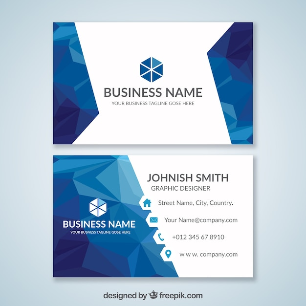 Blue business card vector free download blue business card free vector colourmoves