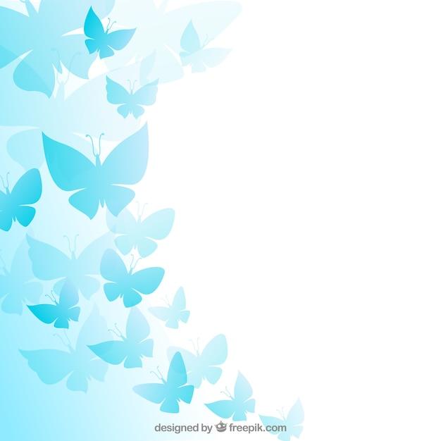 Blue butterflies background Vector | Free Download