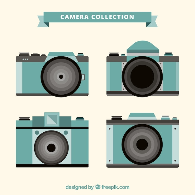 Blue camera collection