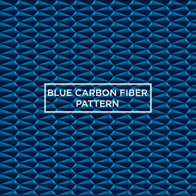Blue carbon fiber pattern Free Vector