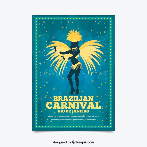 blue carnival poster template vector free download