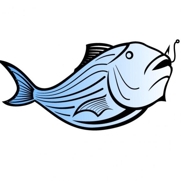 Blue catfish vector illustration Free Vector