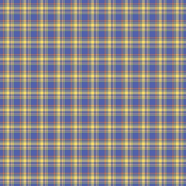 Blue check tartan pattern Free Vector