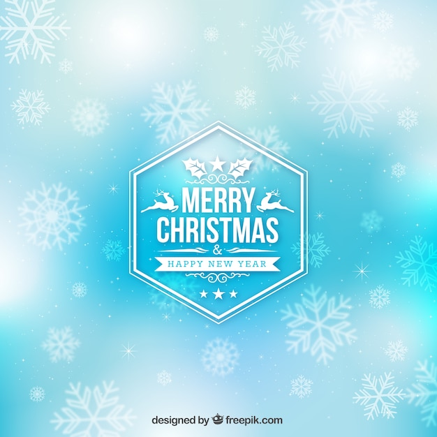 Blue christmas background in abstract style Free Vector