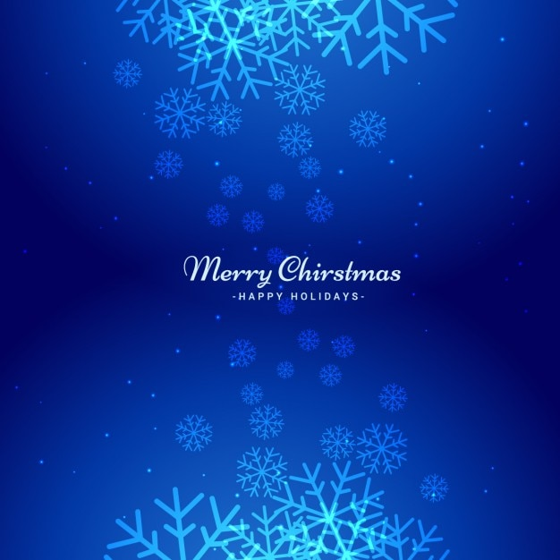 Download Blue Christmas Background Vector