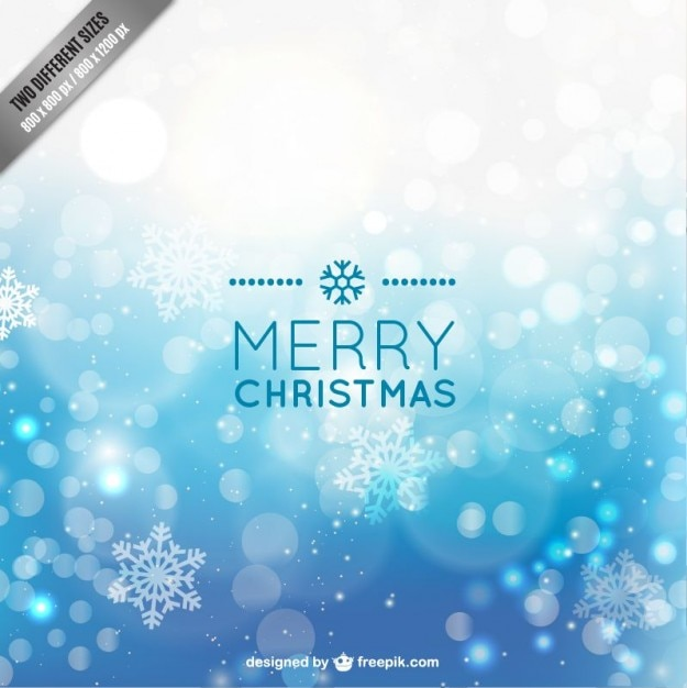 Blue christmas background with snowflakes Free Vector