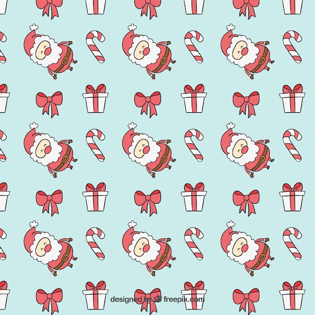 Blue christmas pattern Free Vector