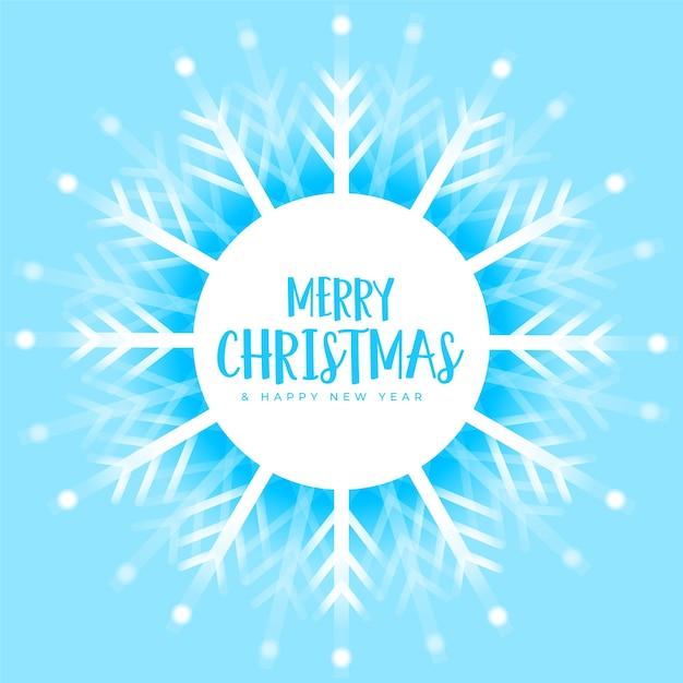 Синие рождественские снежинки украшения зимний фон Бесплатные векторы