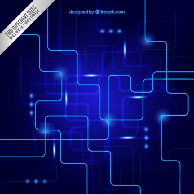 blue circuit background free vector