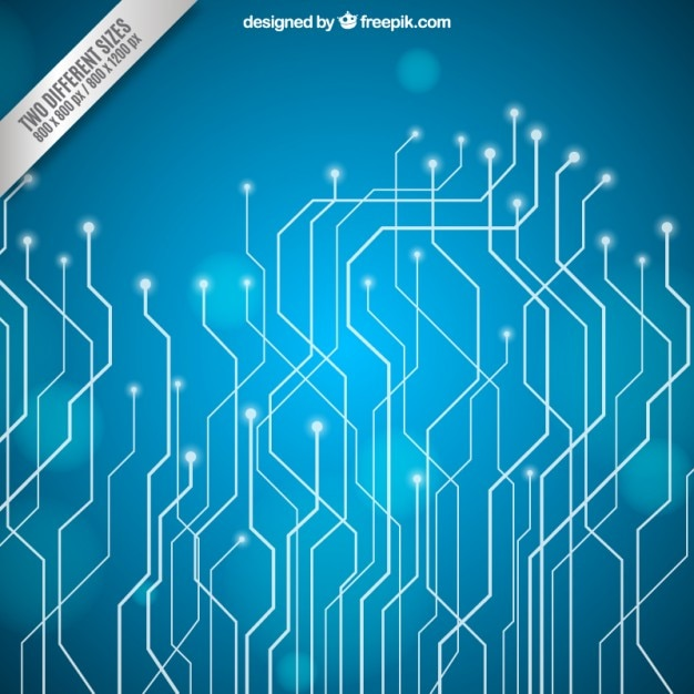 Blue circuit board background Vector | Premium Download