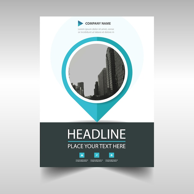 Blue Circular Annual Report Brochure Vector  Free Download