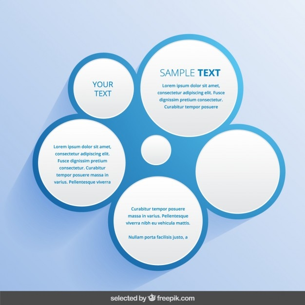 blue circular template vector free download