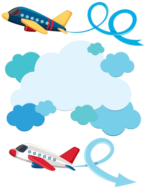 blue clouds and two airplanes flying vector premium download rh freepik com