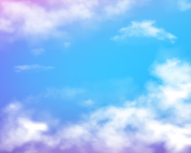 Blue cloudy daylight background for weather design Free Vector