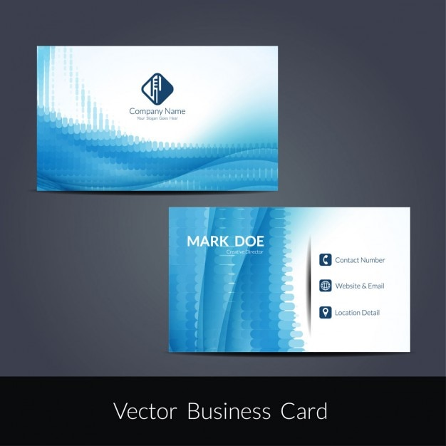Blue color business card template vector free download blue color business card template free vector wajeb Choice Image