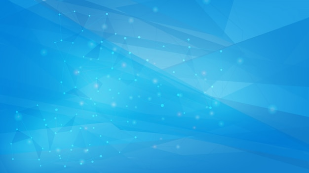 Blue color polygonal shapes background Premium Vector