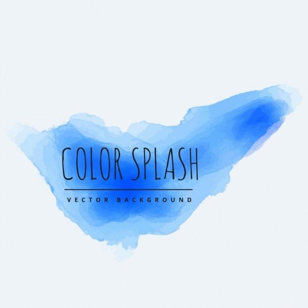 Blue color splash vector | free download.