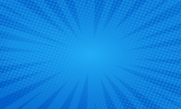 Blue comic style background Premium Vector