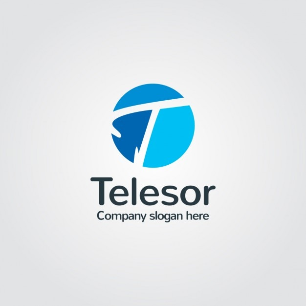 blue company logo vector free download