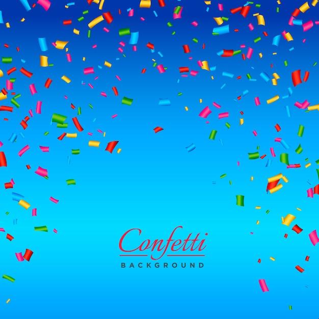 Blue Confetti Background Vector Free Download