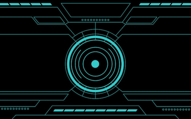 Blue control panel abstract technology Premium Vector