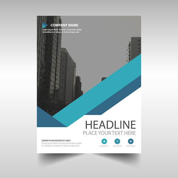 Blue Corporate Brochure Template Vector | Free Download